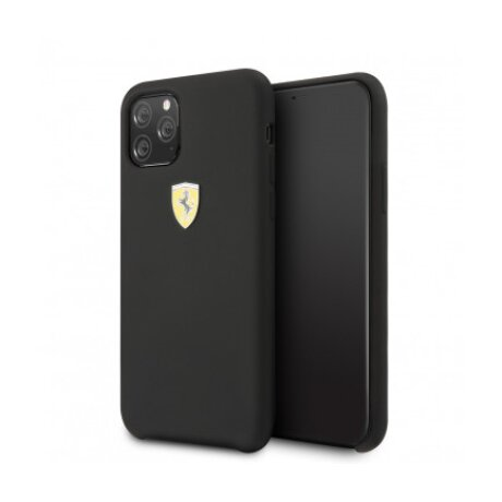 Husa Cover Ferrari SF Silicone pentru iphone 11 Pro Max FESSIHCN65BK Black