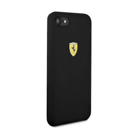 Husa Cover Ferrari SF Silicone pentru iPhone 7/8/SE2 Negru