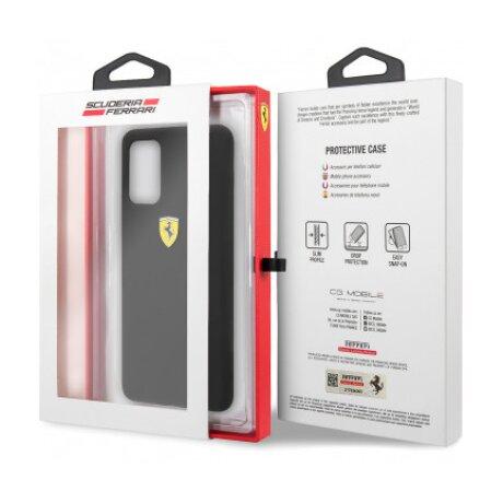 Husa Cover Ferrari SF Silicone pentru Samsung Galaxy S20 FESSIHCS62BK Black