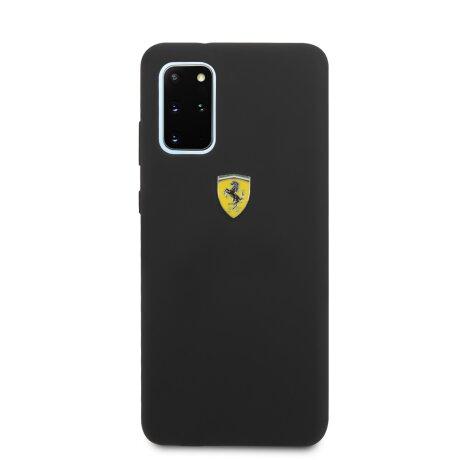 Husa Cover Ferrari SF Silicone pentru Samsung Galaxy S20 Plus Negru