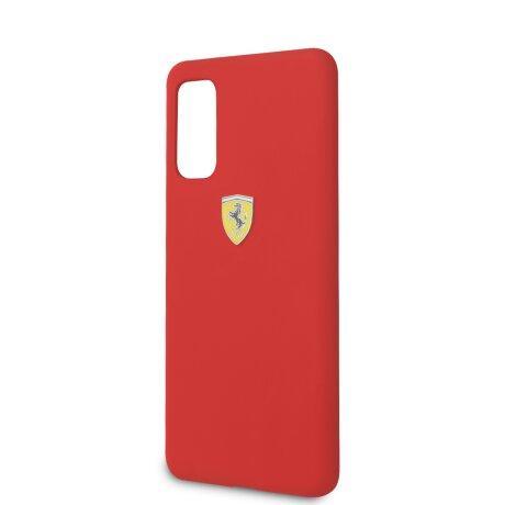 Husa Cover Ferrari SF Silicone pentru Samsung Galaxy S20 Rosu