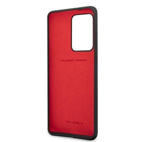 Husa Cover Ferrari SF Silicone pentru Samsung Galaxy S20 Ultra Negru