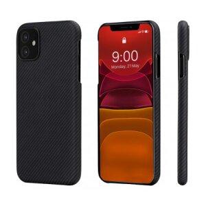 Husa Cover Fibra Pitaka MagEZ Plain Magnet pentru iPhone 11 Negru Gri