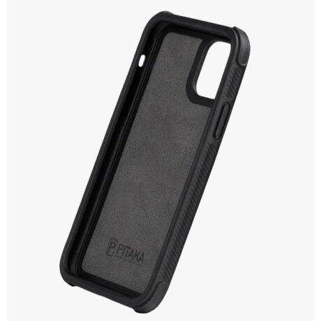 Husa Cover Fibra Pitaka MagEZ Pro Twill Magnet pentru iPhone 11 Negru Gr