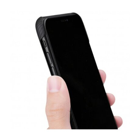 Husa Cover Fibra Twill Pitaka pentru iPhone 11 Pro KI1101A Negru