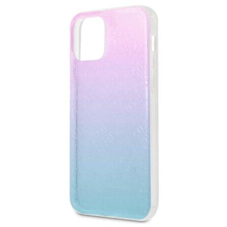Husa Cover Guess 3D Raised Iridescent pentru iPhone 12 Pro Max Blue