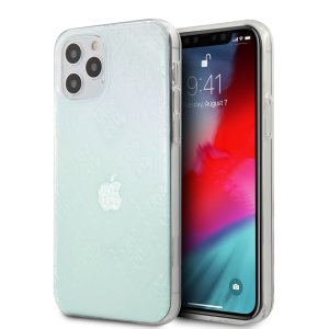 Husa Cover Guess 3D Raised Iridescent pentru iPhone 12 Pro Max Clear