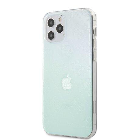 GUHCP12L3D4GIRBL Guess 3D Raised Zadni Kryt pro iPhone 12 Pro Max 6.7 Iridescent