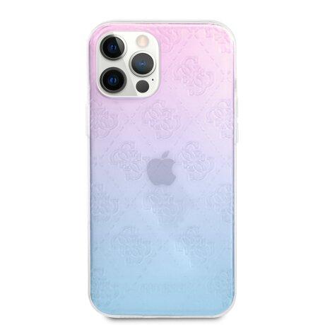 Husa Cover Guess 3D Raised Iridescent pentru iPhone 12/12 Pro  Blue