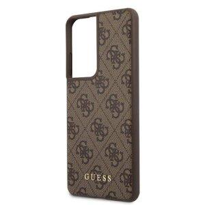 Husa Cover Guess 4G pentru Samsung Galaxy S21 Ultra Brown