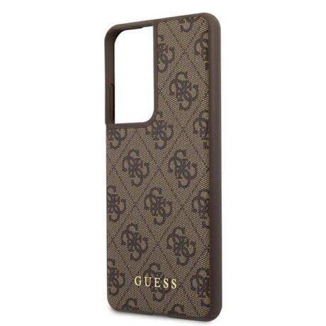 GUHCS21LG4GFBR Guess 4G Zadni Kryt pro Samsung Galaxy S21 Ultra Brown