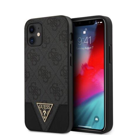 GUHCP12SPU4GHBK Guess 4G Triangle Zadni Kryt pro iPhone 12 mini 5.4 Grey