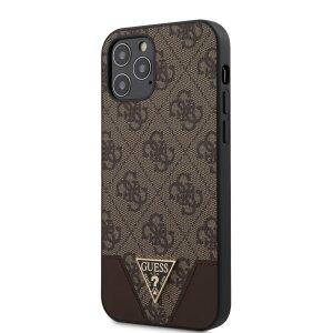 Husa Cover Guess 4G Triangle pentru iPhone 12/12 Pro Brown