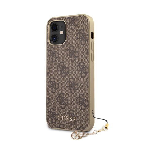 Husa Cover Guess Charms pentru iPhone 12 Mini Brown