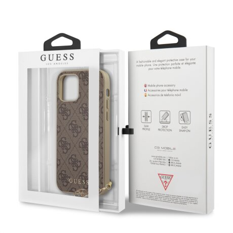 Husa Cover Guess Charms pentru iPhone 12 Pro Max Brown