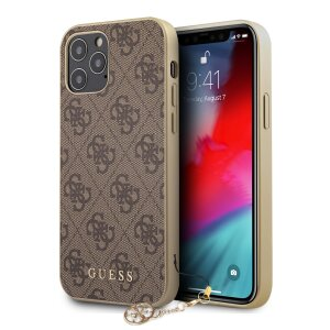 Husa Cover Guess Charms pentru iPhone 12/12 Pro Brown