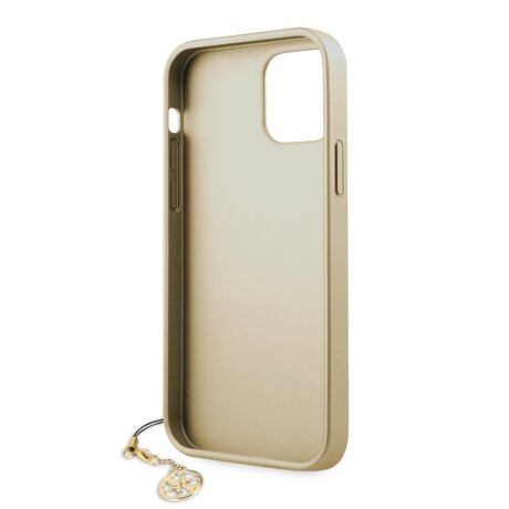 GUHCP12MGF4GGR Guess 4G Charms Zadni Kryt pro iPhone 12/12 Pro 6.1 Grey