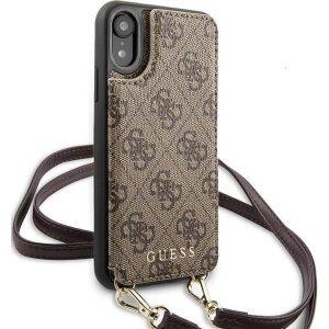 Husa Cover Guess Crossbody Cardslo pentru iPhone XR Brown