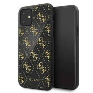 Husa Cover Guess Double Layer Glitter pentru iPhone 11 Pro Max Negru