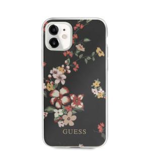 Husa Cover Guess Flower pentru iPhone 11 Black