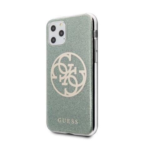 Husa Cover Guess Glitter 4G pentru iPhone 11 Pro Max kaki