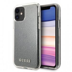 Husa Cover Guess Glitter pentru iPhone 11 Argintiu