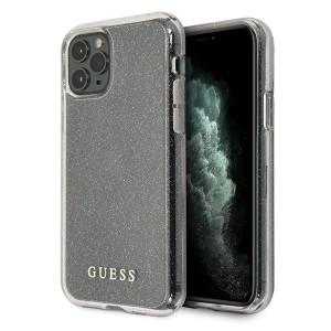 Husa Cover Guess Glitter Circle pentru iPhone 11 Pro Silver