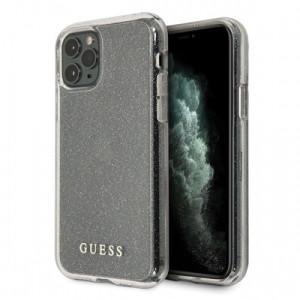 Husa Cover Guess Glitter pentru iPhone 11 Pro Max Argintiu