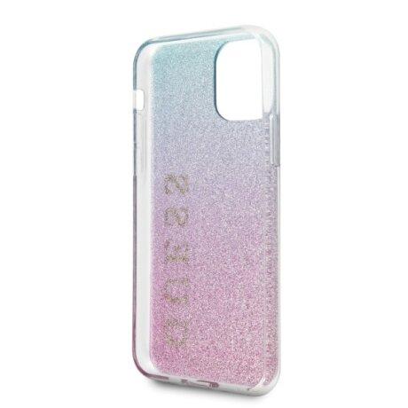 Husa Cover Guess Glitter Gradient pentru iPhone 11 Roz Albastru