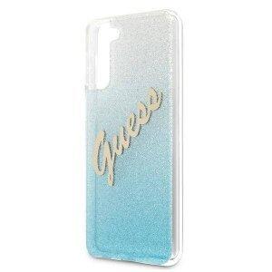 Husa Cover Guess Glitter Gradient pentru Samsung Galaxy S21 Light Blue