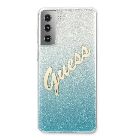 Husa Cover Guess Glitter Gradient pentru Samsung Galaxy S21 Plus Light Blue
