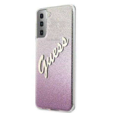 Husa Cover Guess Glitter Gradient pentru Samsung Galaxy S21 Plus Pink