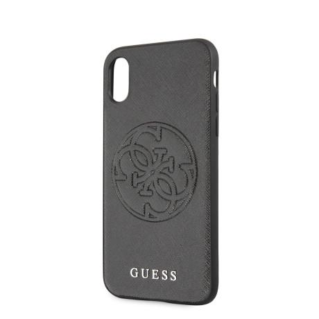 Husa Cover Guess Hard Saffiano pentru iPhone X/XS Negru