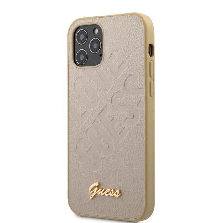 Husa Cover Guess Iridescent Love pentru iPhone 12 Mini Gold