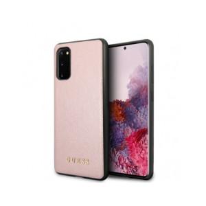 Husa Cover Guess Iridescent pentru Samsung Galaxy S20 Roz Auriu