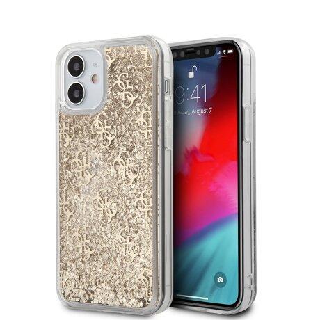 Husa Cover Guess Liquid Glitter pentru iPhone 12 Mini Gold