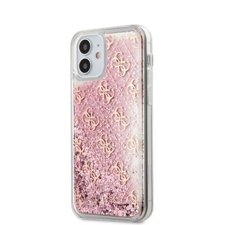 Husa Cover Guess Liquid Glitter pentru iPhone 12 Mini Pink