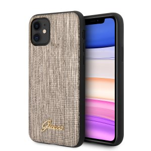 Husa Cover Guess Lizard Collection pentru iPhone 11 Gold