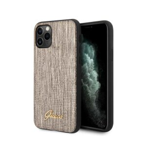 Husa Cover Guess Lizard Collection pentru iPhone 11 Pro Max Gold