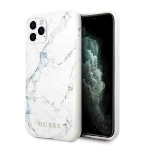 Husa Cover Guess Marble pentru iPhone 11 Pro Max Alb