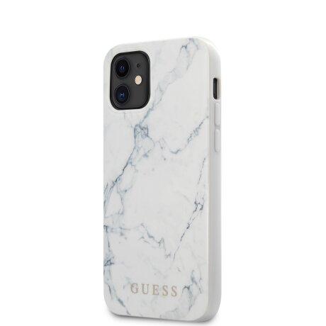 Husa Cover Guess Marble pentru iPhone 12 Mini White
