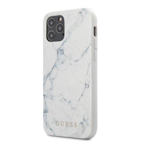 Husa Cover Guess Marble pentru iPhone 12 Pro Max White