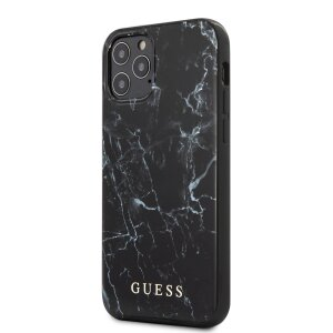 Husa Cover Guess Marble pentru iPhone 12/12 Pro Black