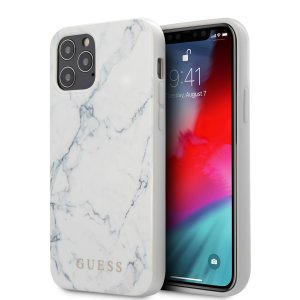 Husa Cover Guess Marble pentru iPhone 12/12 Pro White