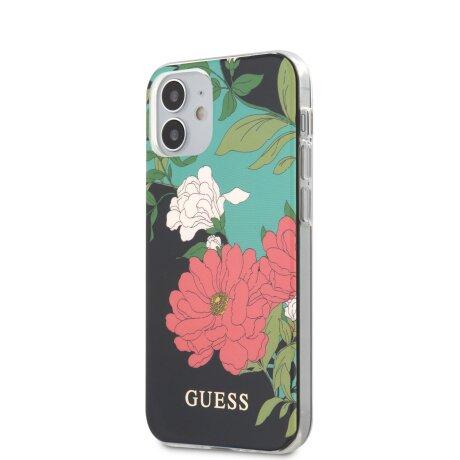 Husa Cover Guess N*1 Flower pentru iPhone 12 Mini Black