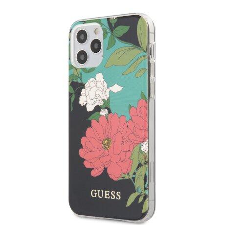 GUHCP12LIMLFL01 Guess PC/TPU Flower N.1 Zadni Kryt pro iPhone 12 Pro Max 6.7 Black