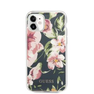Husa Cover Guess Flower pentru iPhone 11 Albastru