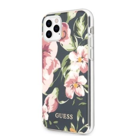 Husa Cover Guess N*3 Flower pentru iPhone 11 Pro Albastru