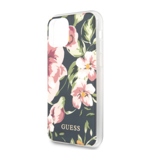 Husa Cover Guess Flower pentru iPhone 11 Pro Max Albastru