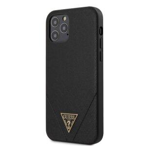 Husa Cover Guess Saffiano V Stitch pentru iPhone 12 Pro Max Black